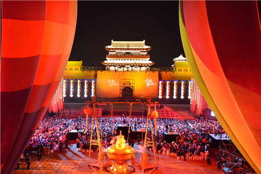 Performance in Datong ancient city