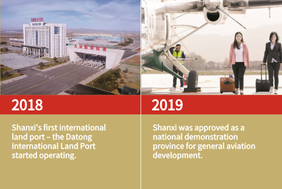 Shanxi's first international land port started operating.
