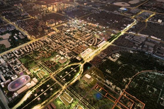 天桥核心演艺功能区——东西文化走廊规划效果图_副本.jpg