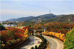 Tianjin mountains tinged with autumn colors
