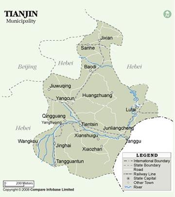 Tianjin Tourist Map