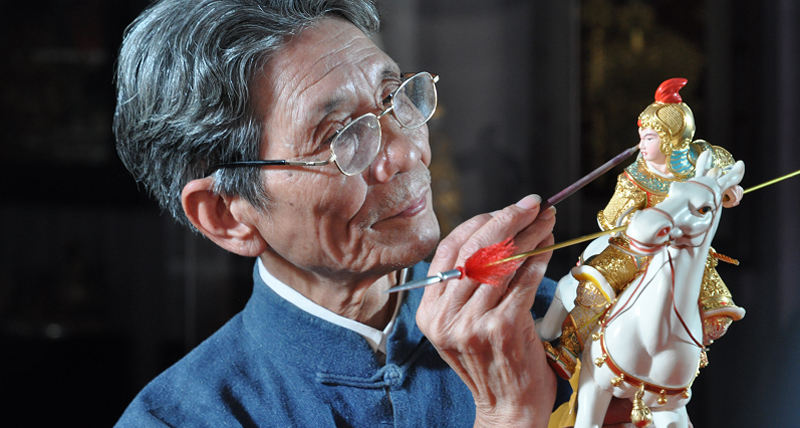 Xiamen lacquer thread sculpture technique