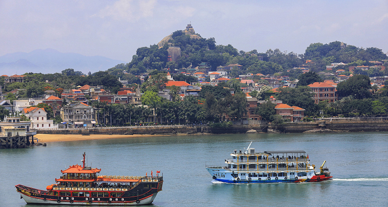 Two years on Gulangyu, a UNESCO World Cultural Heritage, protection reinforces