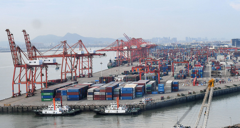 Xiamen imports, exports total 465.3b yuan in Q1-3, up 3.9 percent year-on-year