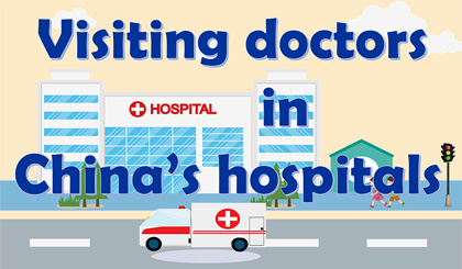 Visiting doctors in China's hospitals