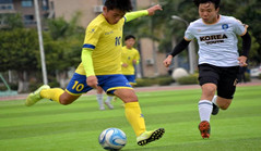 S Korean football team visits Xiamen