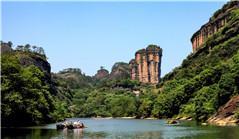 View of Wuyi Mountain in SE China's Fujian